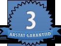 3-aastane garantii
